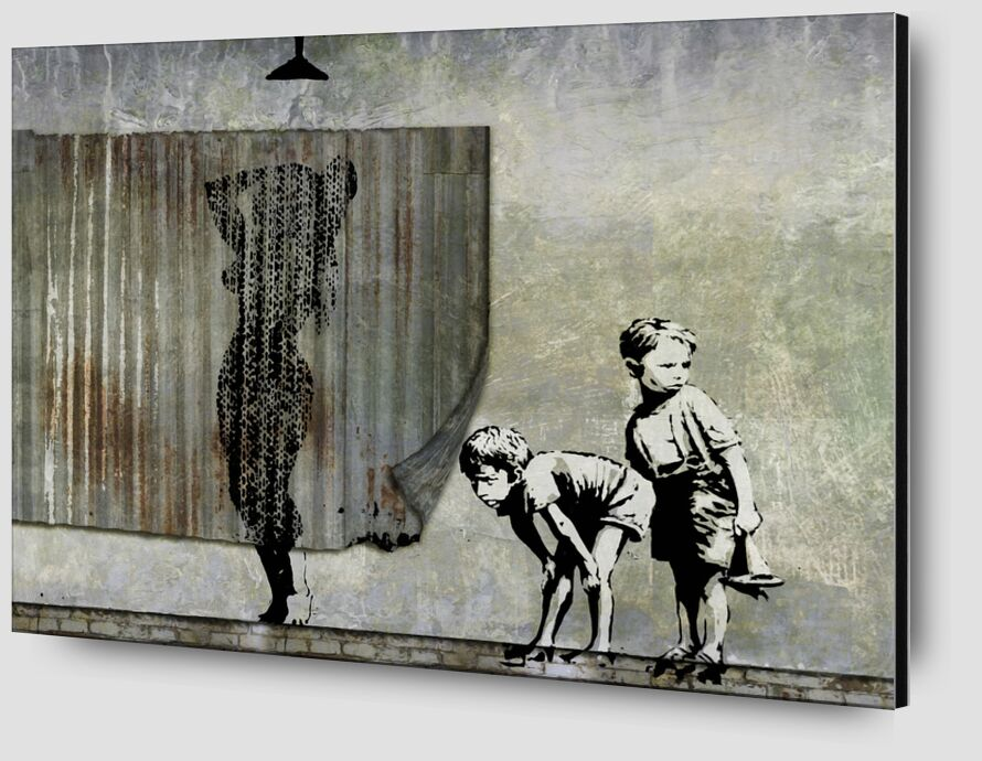 Shower Peepers - BANKSY desde AUX BEAUX-ARTS Zoom Alu Dibond Image