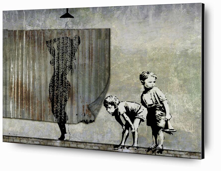 Shower Peepers - BANKSY from AUX BEAUX-ARTS, Prodi Art, voyeurs, graffiti, street art, shower, banksy