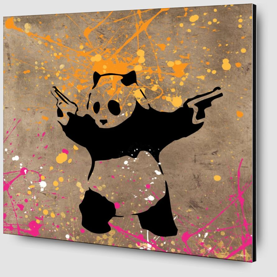 Panda with Guns - BANKSY from AUX BEAUX-ARTS Zoom Alu Dibond Image