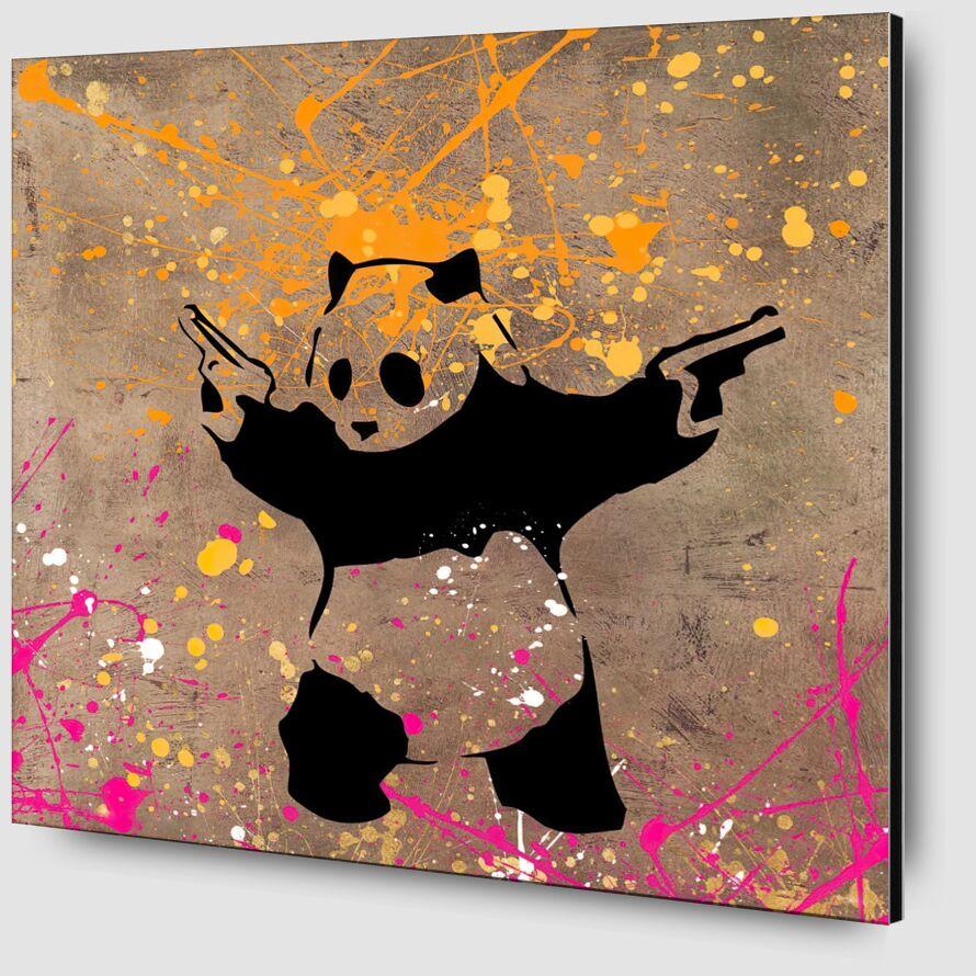 Le Panda avec des Flingues - BANKSY de AUX BEAUX-ARTS Zoom Alu Dibond Image