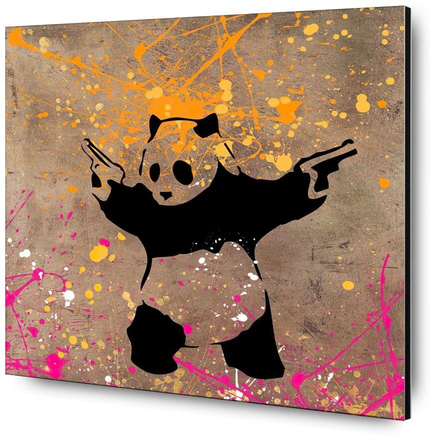 Panda with Guns - BANKSY from AUX BEAUX-ARTS, Prodi Art, panda, guns, street art, banksy, graffiti