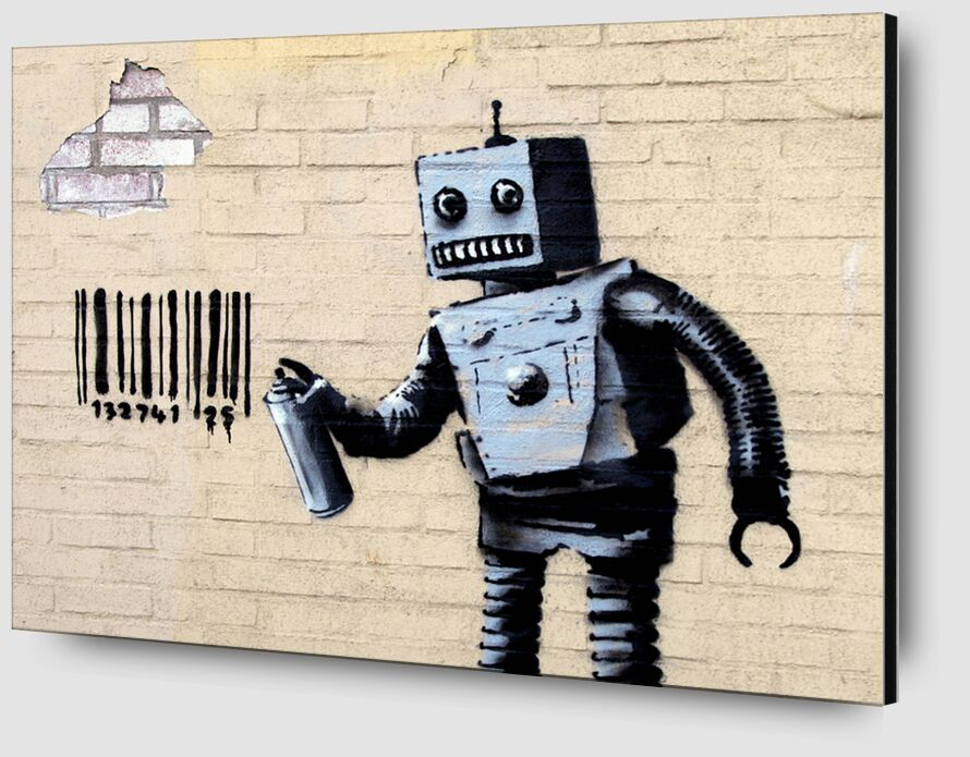 Robot - BANKSY desde AUX BEAUX-ARTS Zoom Alu Dibond Image