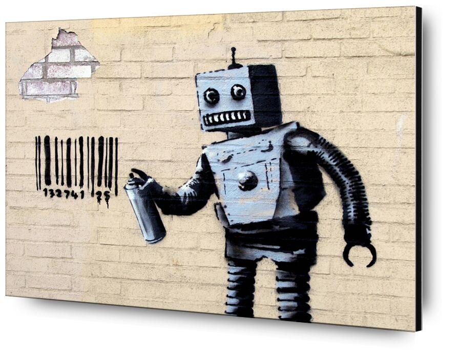 Robot - BANKSY desde AUX BEAUX-ARTS, Prodi Art, Banksy, robot, arte callejero, código de barras