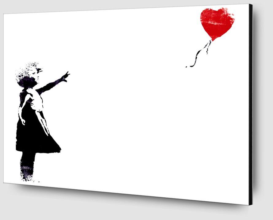 Heart Balloon - BANKSY from AUX BEAUX-ARTS Zoom Alu Dibond Image