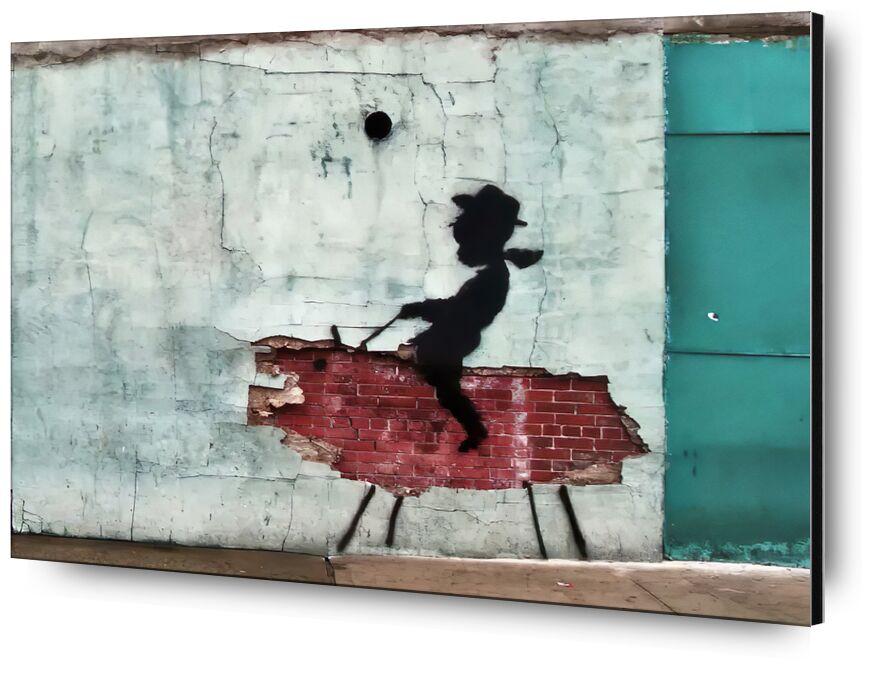 Pig - BANKSY from AUX BEAUX-ARTS, Prodi Art, street art, pig, banksy, cow-boy
