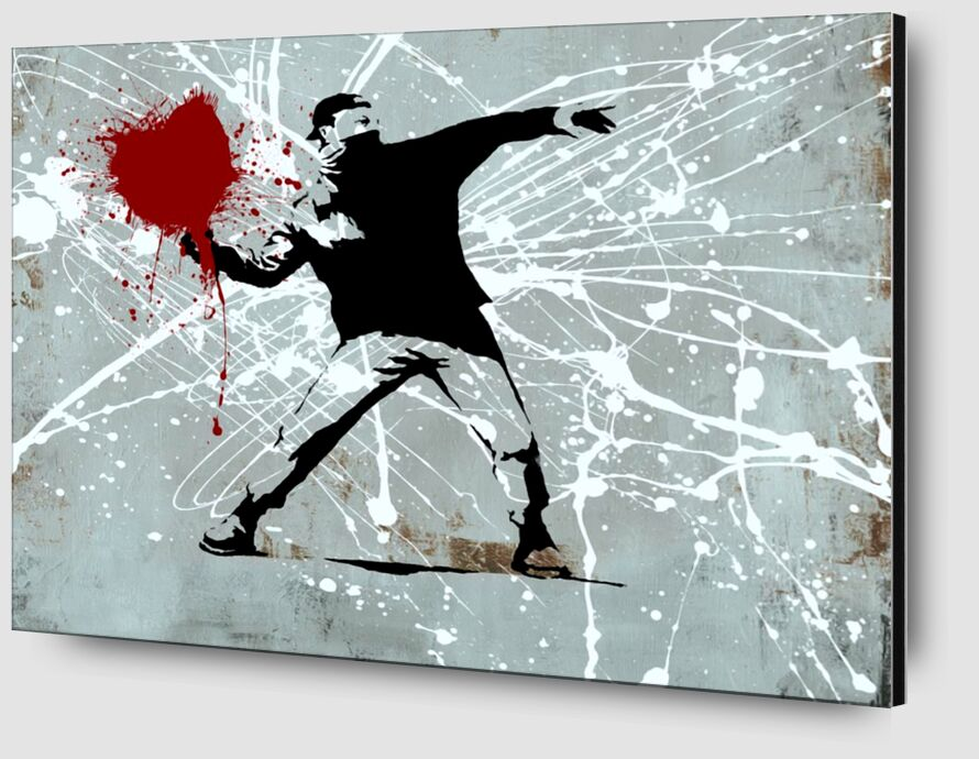 Painted heart Thrower - BANKSY from AUX BEAUX-ARTS Zoom Alu Dibond Image