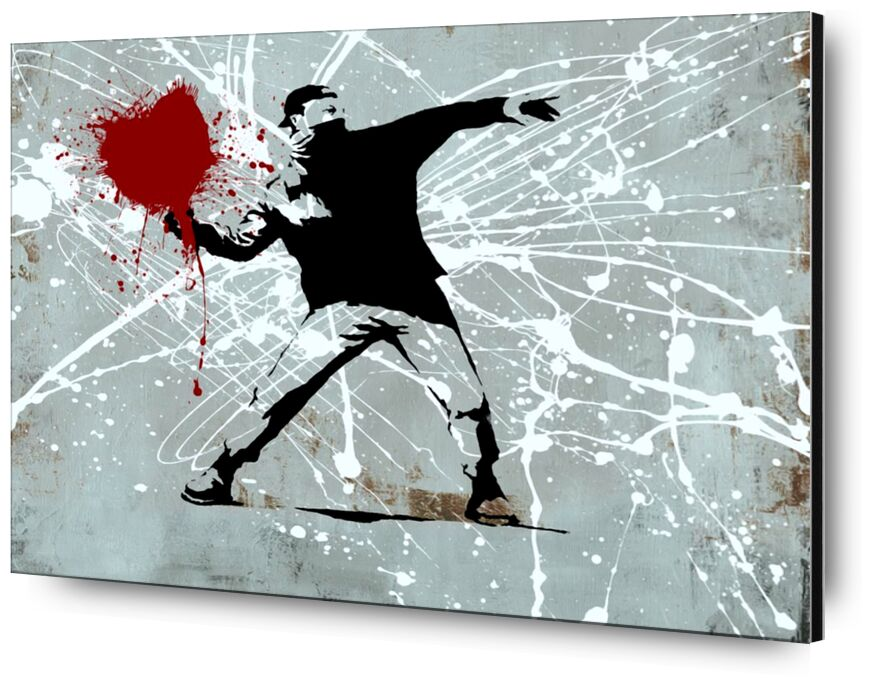 Painted heart Thrower - BANKSY desde AUX BEAUX-ARTS, Prodi Art, Banksy, corazón, arte callejero, pintado