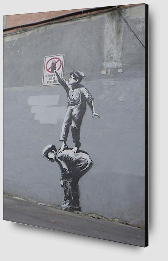 Graffiti Is a Crime - BANKSY desde AUX BEAUX-ARTS Zoom Alu Dibond Image