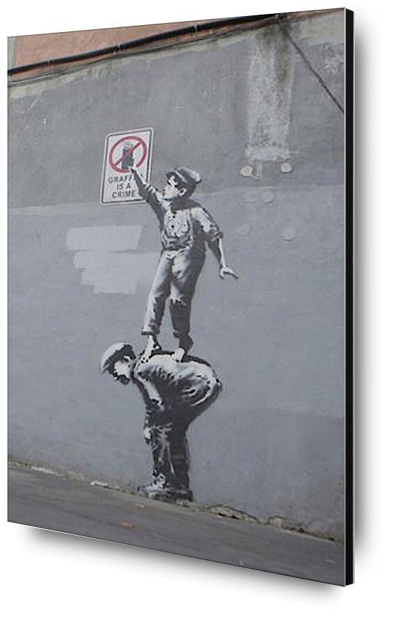 Graffiti Is a Crime - BANKSY desde AUX BEAUX-ARTS, Prodi Art, Banksy, arte callejero, pintada, Niños, crimen