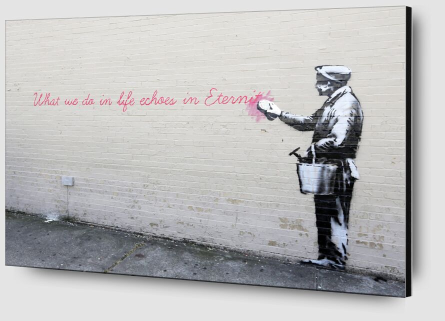 Echoes - BANKSY from AUX BEAUX-ARTS Zoom Alu Dibond Image