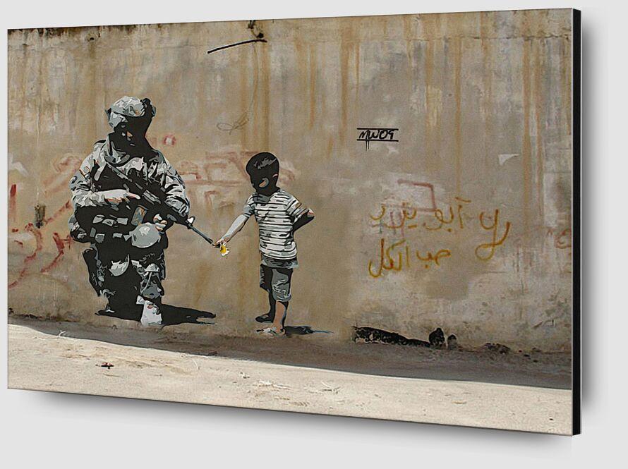 Peace - BANKSY from AUX BEAUX-ARTS Zoom Alu Dibond Image
