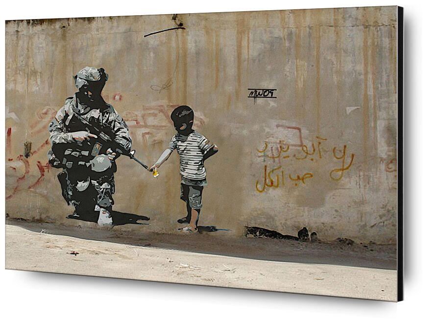 Peace - BANKSY desde AUX BEAUX-ARTS, Prodi Art, BANSKY, paz, guerra, niño, niño, arte callejero, Palestina
