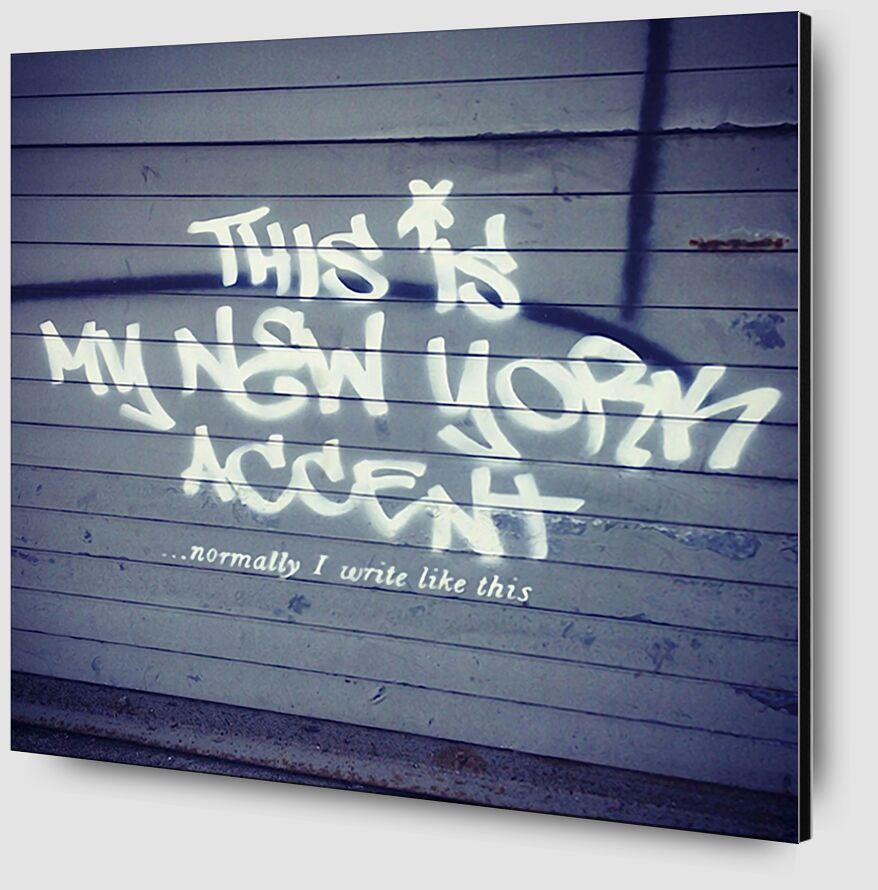 My New York Min - BANKSY de AUX BEAUX-ARTS Zoom Alu Dibond Image
