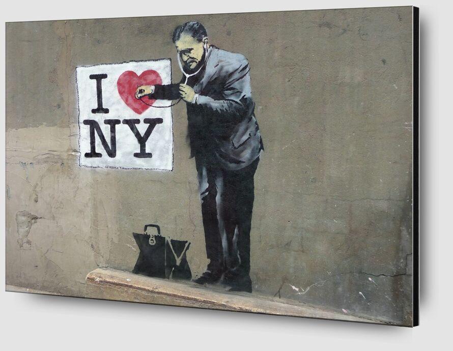 I Love NY - BANKSY from AUX BEAUX-ARTS Zoom Alu Dibond Image