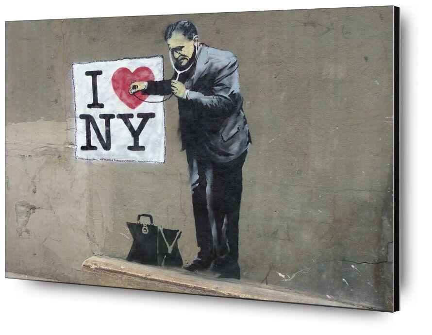 I Love NY - BANKSY from AUX BEAUX-ARTS, Prodi Art, banksy, New-York, street art, love, graffiti
