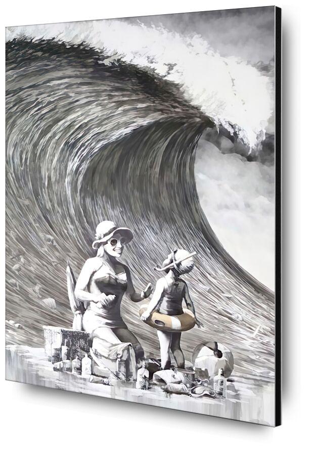 Dismal Beach - BANKSY from AUX BEAUX-ARTS, Prodi Art, banksy, beach, wave, tsunami