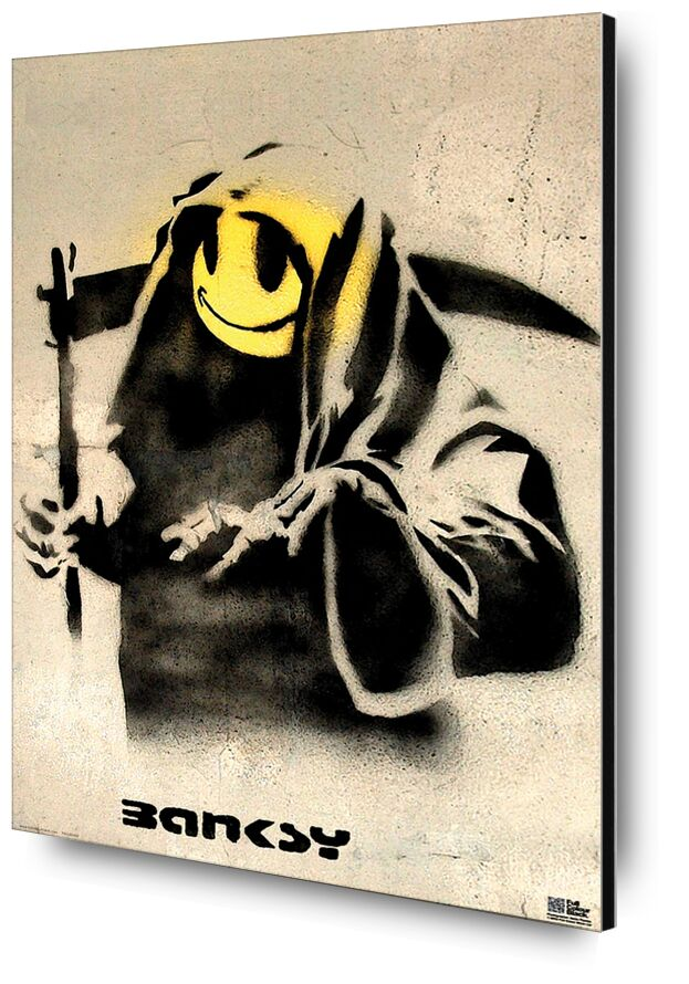 The Reaper - BANKSY desde AUX BEAUX-ARTS, Prodi Art, Banksy, pintada, cortacésped, sonriente