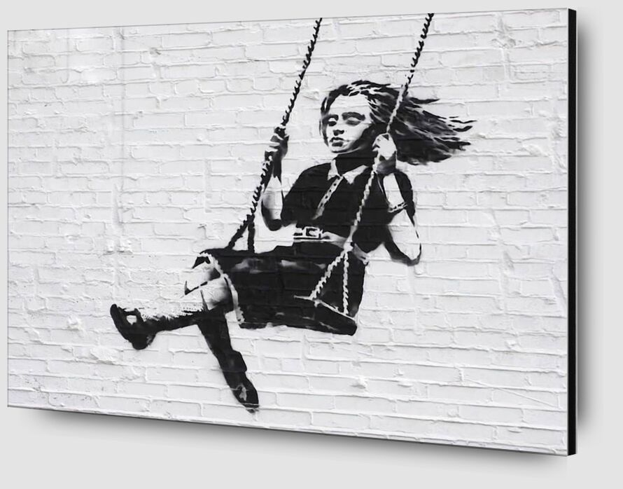 Girl on a Swing - BANKSY from AUX BEAUX-ARTS Zoom Alu Dibond Image