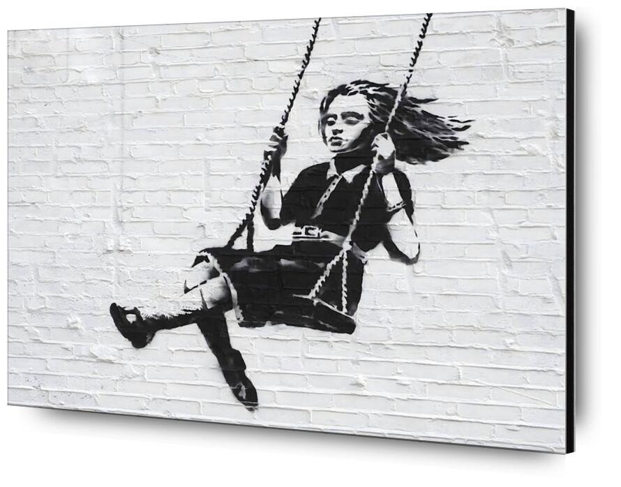 Fille sur une Balançoire - BANKSY de AUX BEAUX-ARTS, Prodi Art, fille, balancoire, graffiti, art de rue, Banksy