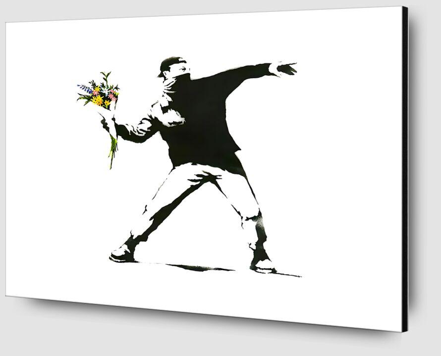 Flower Chucker - BANKSY from AUX BEAUX-ARTS Zoom Alu Dibond Image