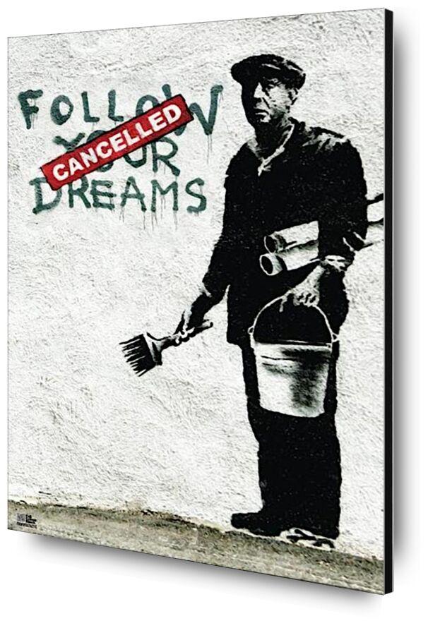 Follow Your Dreams - BANKSY desde AUX BEAUX-ARTS, Prodi Art, Banksy, arte callejero, pared, trabajador, Sueños