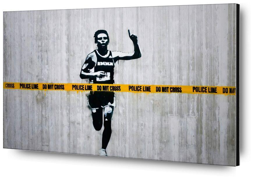 Ne pas franchir - BANKSY de AUX BEAUX-ARTS, Prodi Art, Banksy, art de rue, cours, police, coureur, enquête