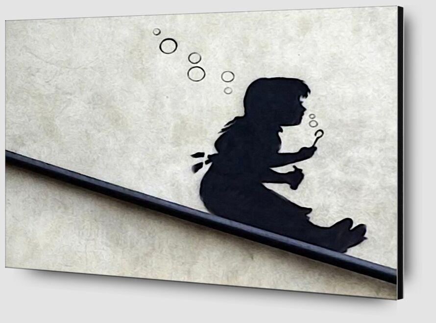 Bubble Girl - BANKSY from AUX BEAUX-ARTS Zoom Alu Dibond Image