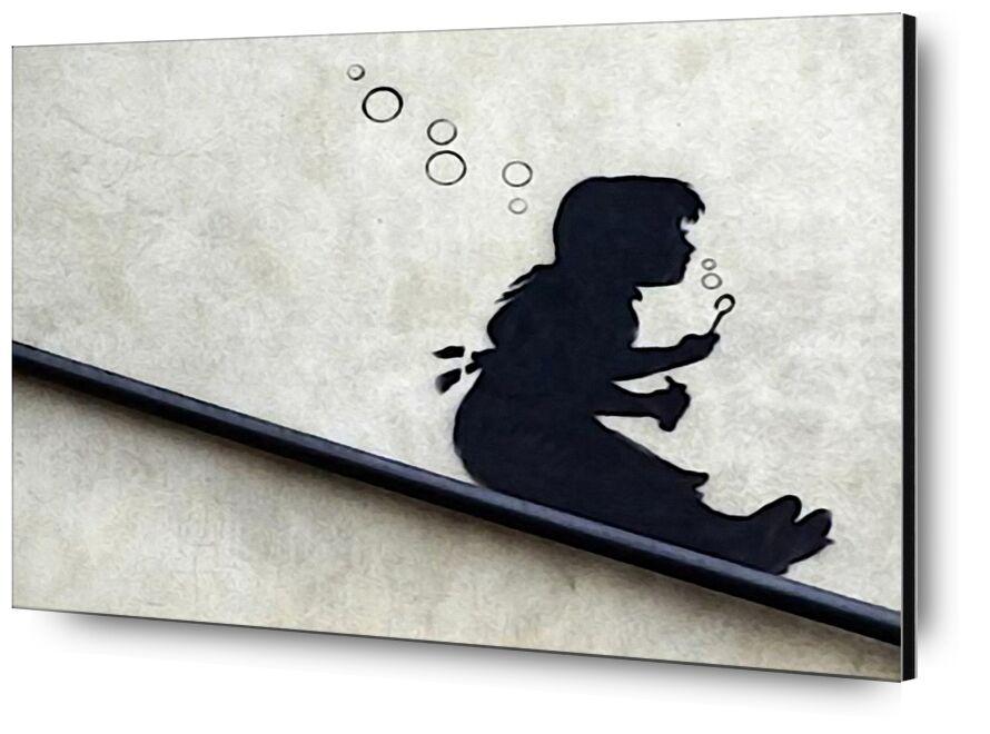 Bubble Girl - BANKSY desde AUX BEAUX-ARTS, Prodi Art, Banksy, arte callejero, Bulles, niña, pintada