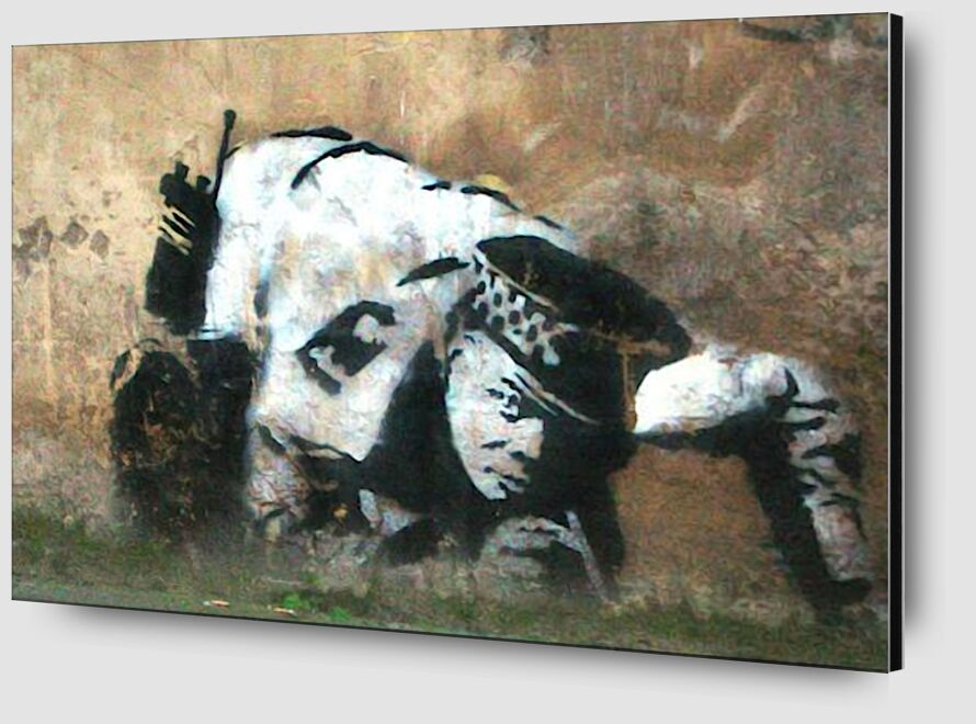 Crouching Policeman - BANKSY from AUX BEAUX-ARTS Zoom Alu Dibond Image