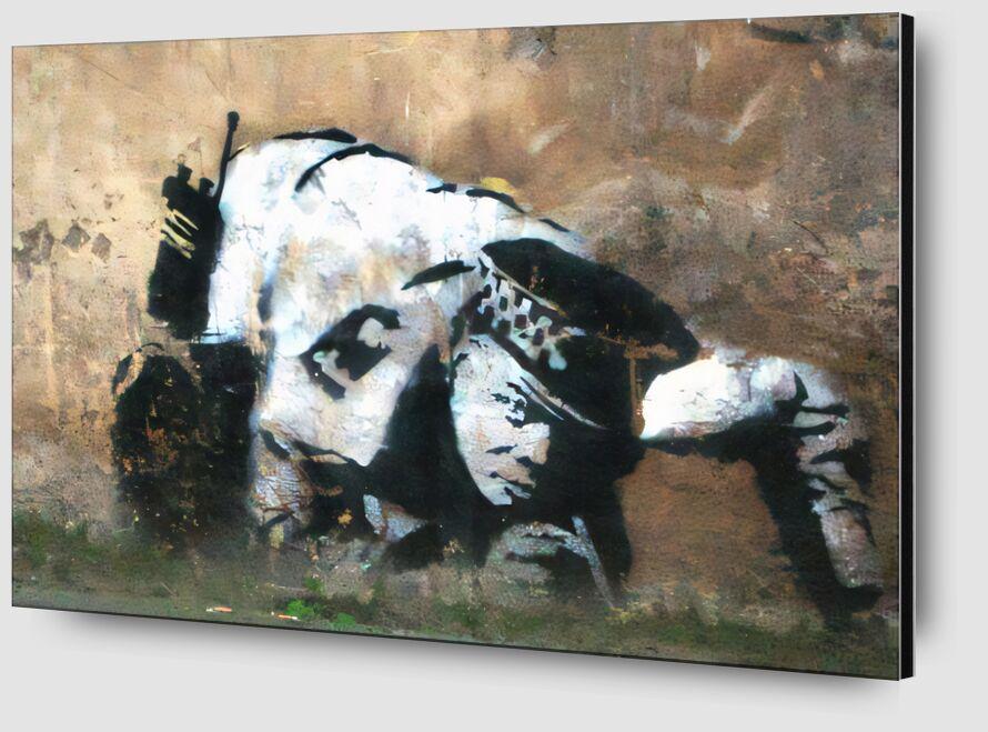 Crouching Policeman - BANKSY desde AUX BEAUX-ARTS Zoom Alu Dibond Image