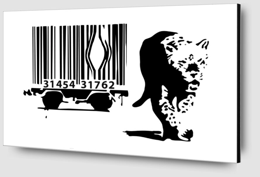 Barcode - BANKSY from AUX BEAUX-ARTS Zoom Alu Dibond Image