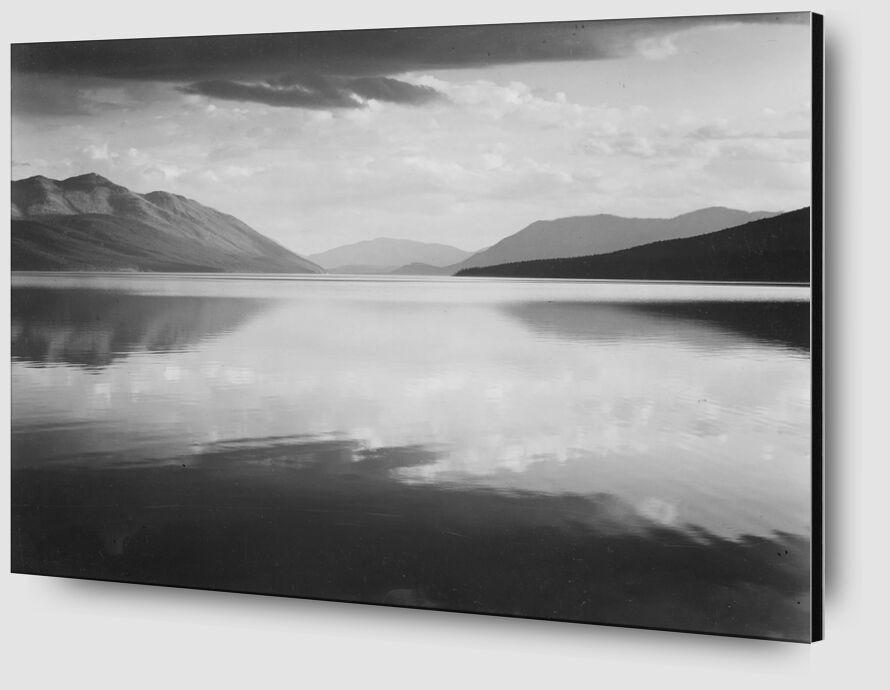 Evening McDonald Lake Glacier National Park - ANSEL ADAMS desde AUX BEAUX-ARTS Zoom Alu Dibond Image