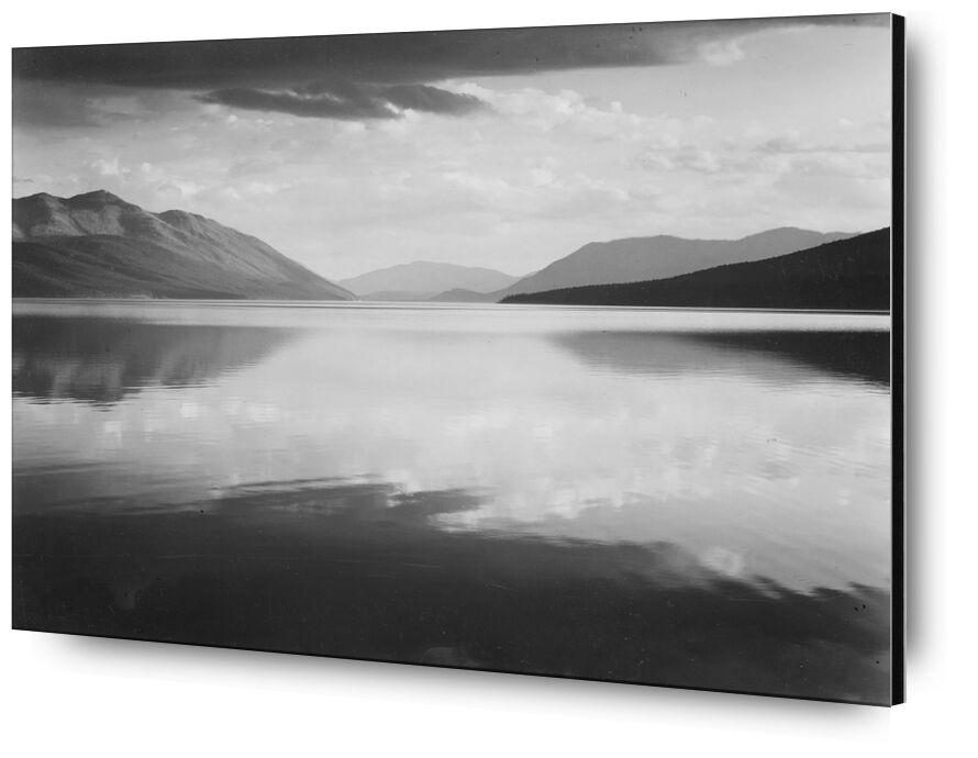 Evening McDonald Lake Glacier National Park - ANSEL ADAMS desde AUX BEAUX-ARTS, Prodi Art, ANSEL ADAMS, parque, lago, blanco y negro, EE.UU.