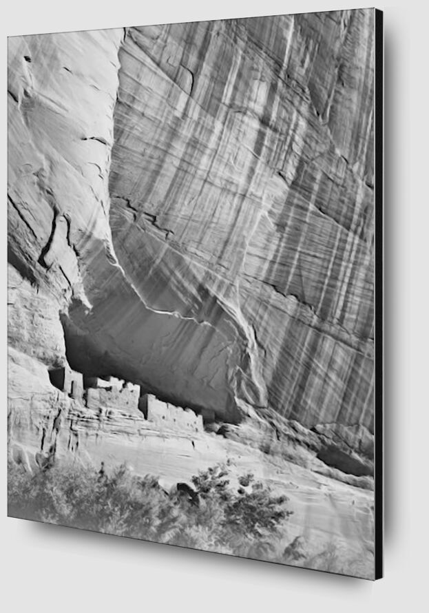 """View From River Valley """"Canyon De Chelly"""" National Monument Arizona - Ansel Adams from AUX BEAUX-ARTS Zoom Alu Dibond Image"""