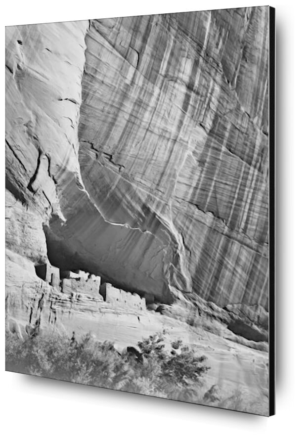 """View From River Valley """"Canyon De Chelly"""" National Monument Arizona - Ansel Adams from AUX BEAUX-ARTS, Prodi Art, ANSEL ADAMS, valley, black White, mountains, cliff"""
