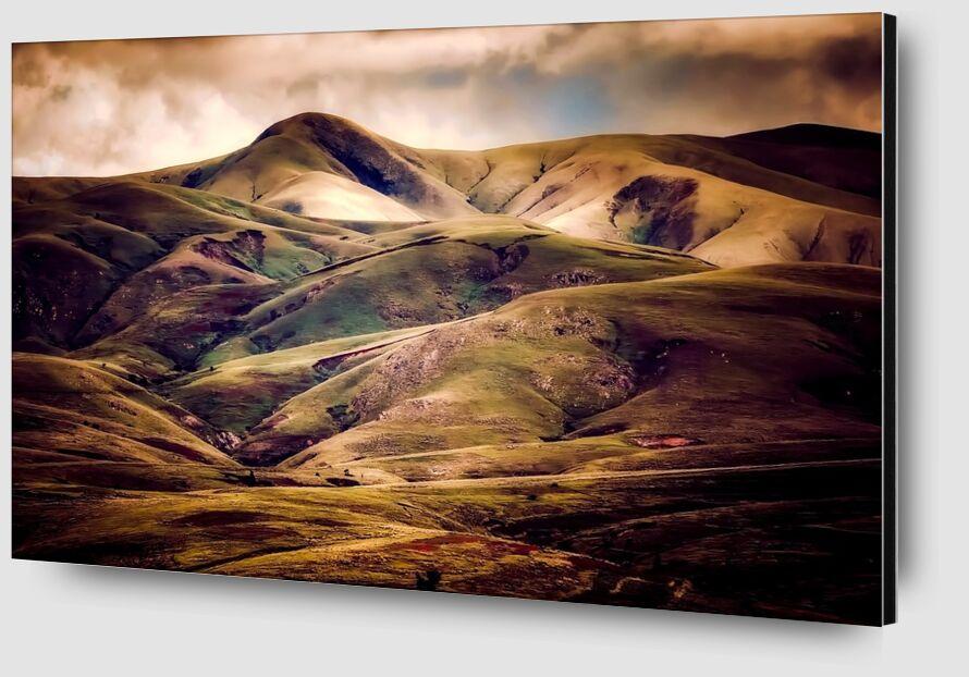 Hilly landscape from Pierre Gaultier Zoom Alu Dibond Image