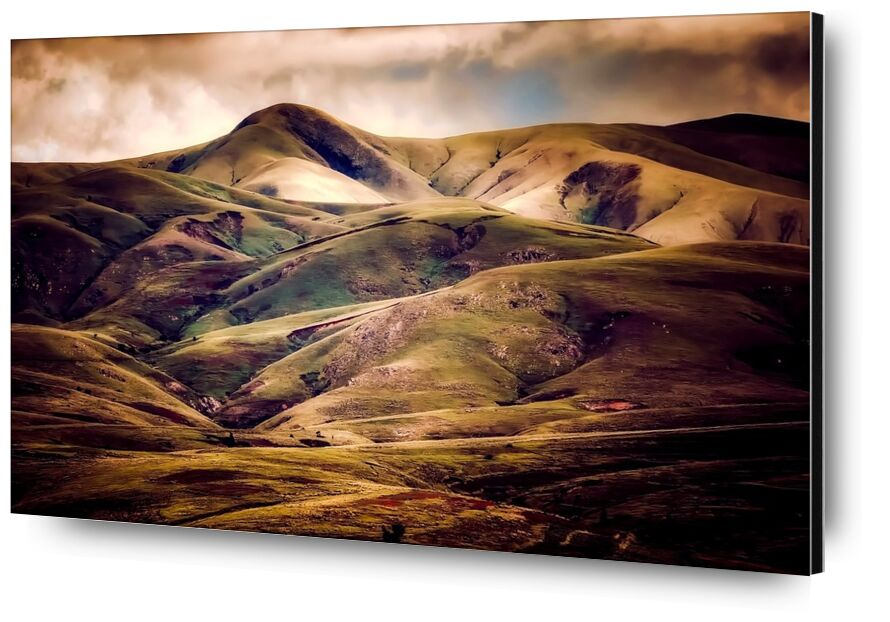 Hilly landscape from Pierre Gaultier, Prodi Art, iceland, mountains, sky, clouds, nature, outdoors, landscape, hills, country, countryside, sunset, sunrise