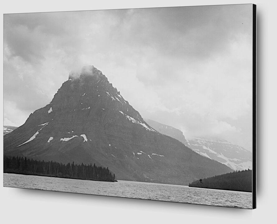 High Lone Mountain Peak Lake In Foreground - Ansel Adams desde AUX BEAUX-ARTS Zoom Alu Dibond Image