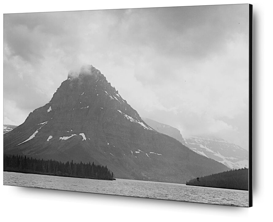 High Lone Mountain Peak Lake In Foreground - Ansel Adams from AUX BEAUX-ARTS, Prodi Art, ANSEL ADAMS, mountains, winter, snow, black-and-white