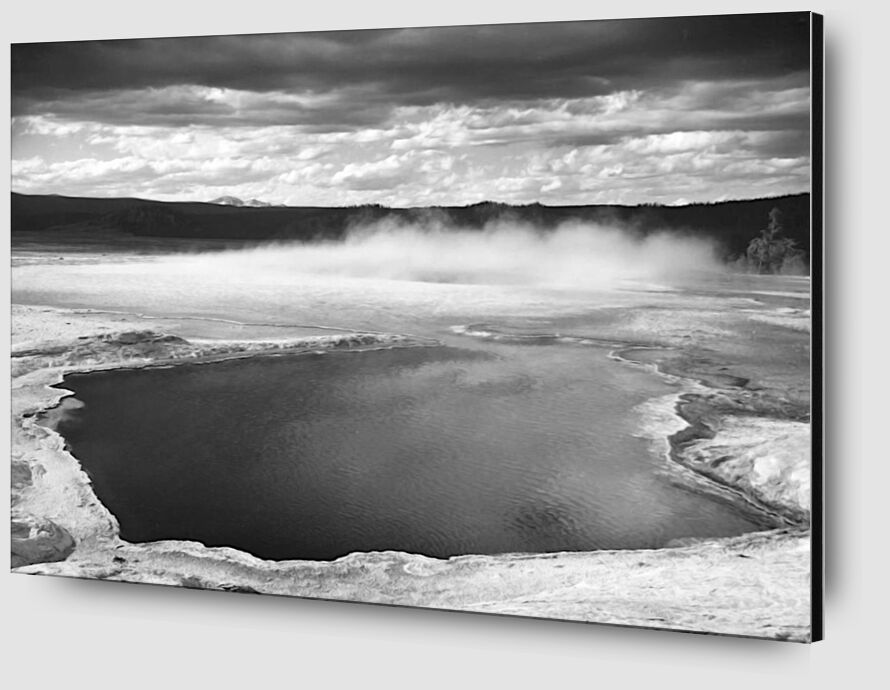 Fountain Geyser Pool Yellowstone National Park Wyoming - Ansel Adams desde AUX BEAUX-ARTS Zoom Alu Dibond Image