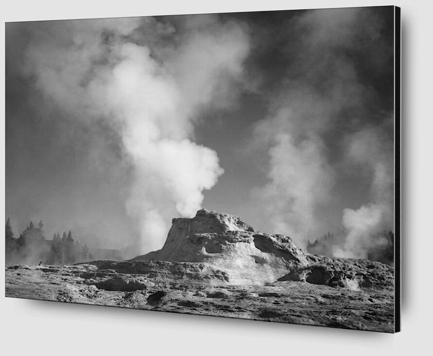 Castle Geyser Cove, Yellowstone - Ansel Adams desde AUX BEAUX-ARTS Zoom Alu Dibond Image
