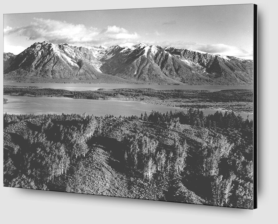 Grand Teton, National Park Wyoming - Ansel Adams from AUX BEAUX-ARTS Zoom Alu Dibond Image