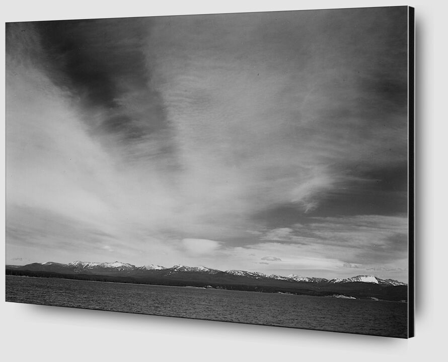 """Wider Strip Of Mountains """"Yellowstone Lake"""" - Ansel Adams from AUX BEAUX-ARTS Zoom Alu Dibond Image"""