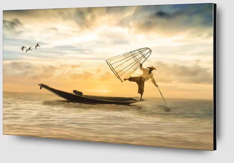Le pêcheur de Pierre Gaultier Zoom Alu Dibond Image