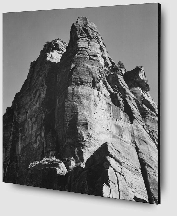 Rock Formation From Below - Ansel Adams desde AUX BEAUX-ARTS Zoom Alu Dibond Image
