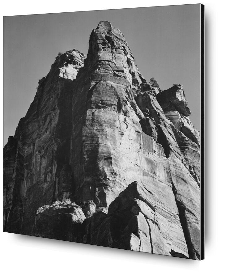 Rock Formation From Below - Ansel Adams desde AUX BEAUX-ARTS, Prodi Art, ANSEL ADAMS, montañas, acantilado
