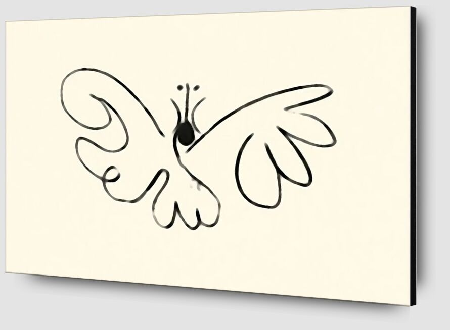 The Butterfly - Picasso desde AUX BEAUX-ARTS Zoom Alu Dibond Image