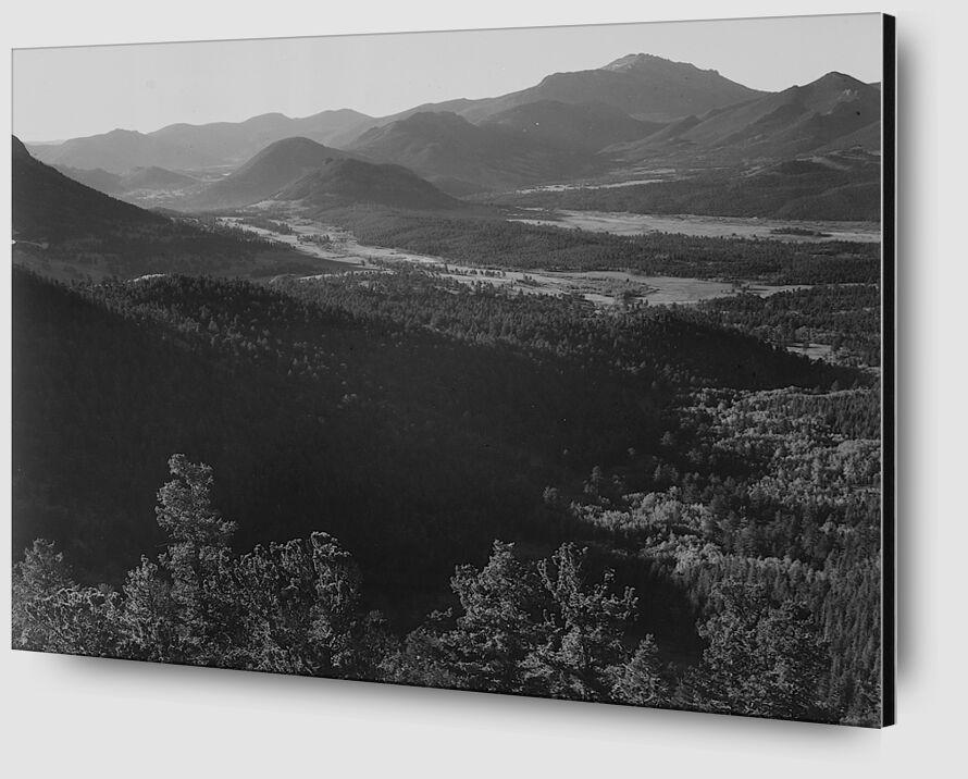 Rocky Mountain National Park - Ansel Adams desde AUX BEAUX-ARTS Zoom Alu Dibond Image