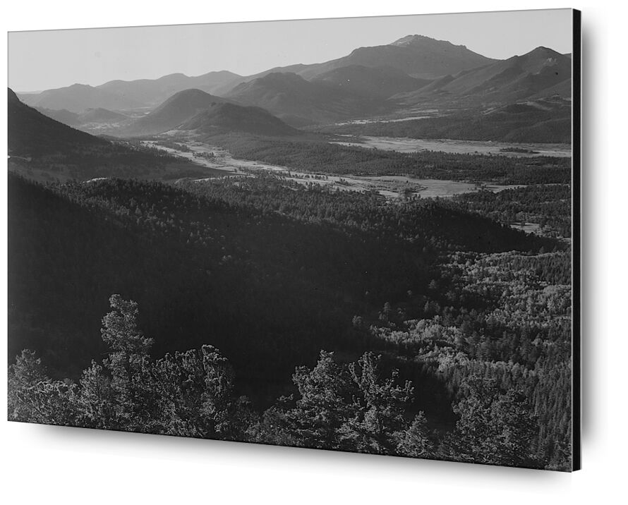 Rocky Mountain National Park - Ansel Adams from AUX BEAUX-ARTS, Prodi Art, Rocky Mountains, black-and-white, mountains, ANSEL ADAMS