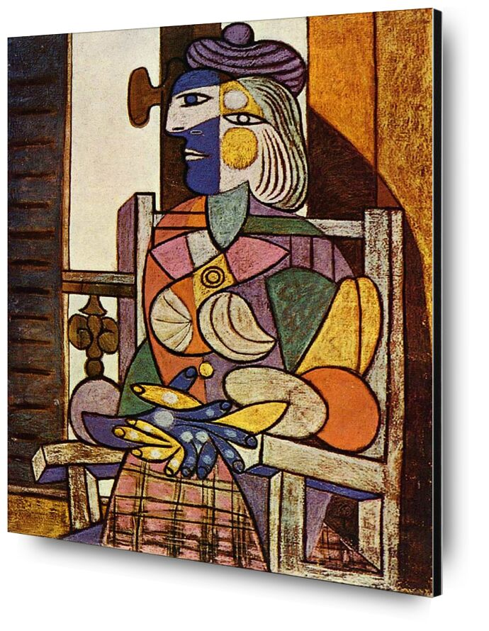 Woman Sitting in Front of The Window - Picasso desde AUX BEAUX-ARTS, Prodi Art, picasso, abstracto, pintura, mujer